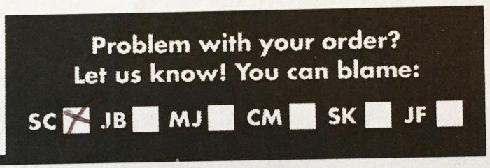 Customer Service Check Box