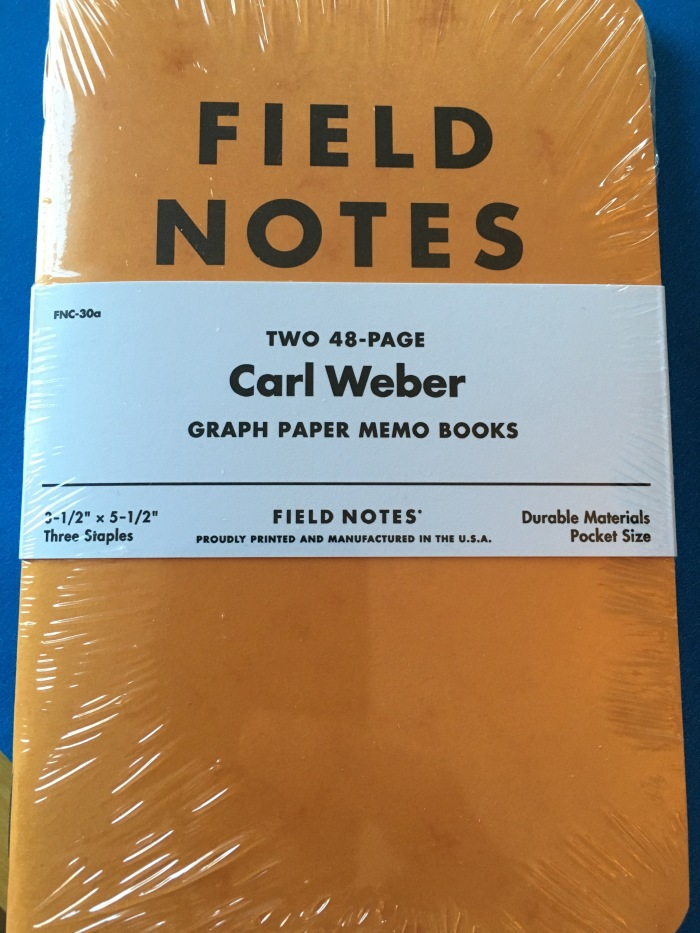 Field Notes Carl Weber