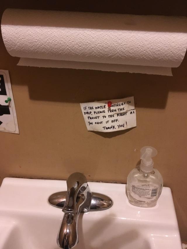 Yes the sink is still broken